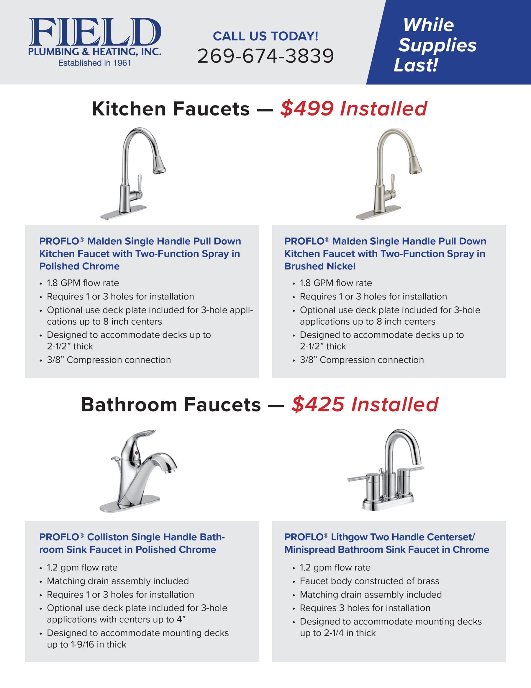faucet flyer special